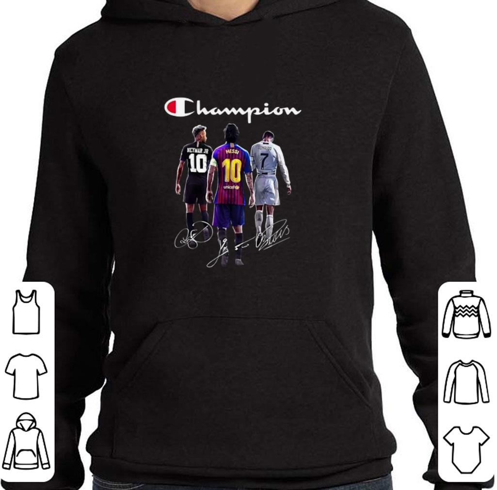 Official Champion Neymar Jr Lionel Messi Cristiano Ronaldo Signatures shirt
