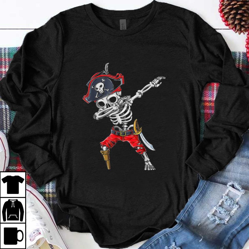 Official Dabbing Skeleton Pirate Halloween Kids Jolly Roger shirt