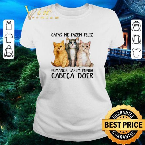 Official Gatas Me Fazem Feliz Humanos Fazem Minha Cabeca Doer shirt 2 1 510x510 - Official Gatas Me Fazem Feliz Humanos Fazem Minha Cabeca Doer shirt