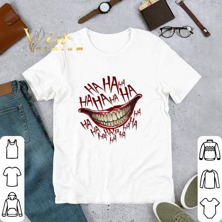 Official Hahaha Joker Smile shirt