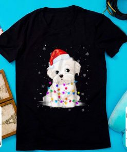 Official Maltese With Christmas Lights Santa Hat Gift shirt 1 1 247x296 - Official Maltese With Christmas Lights Santa Hat Gift shirt