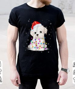 Official Maltese With Christmas Lights Santa Hat Gift shirt 2 1 247x296 - Official Maltese With Christmas Lights Santa Hat Gift shirt