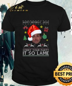 Official Michael Scott happy birthday Jesus sorry your party it so lame shirt 1 1 247x296 - Official Michael Scott happy birthday Jesus sorry your party it so lame shirt