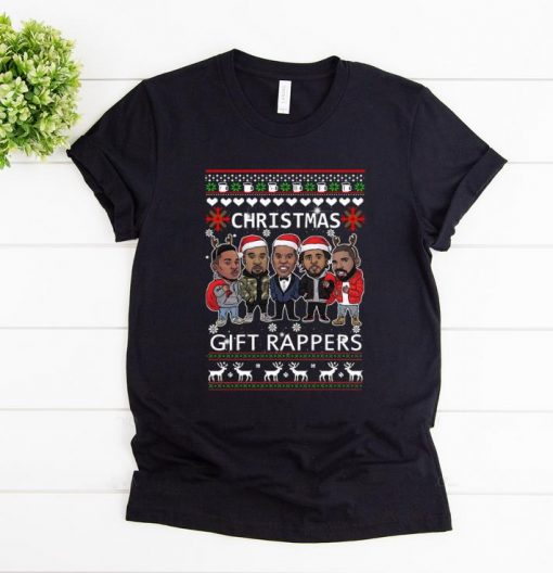 Official Rappers Wrappers Christmas Gift shirt 1 1 510x528 - Official Rappers Wrappers Christmas Gift shirt