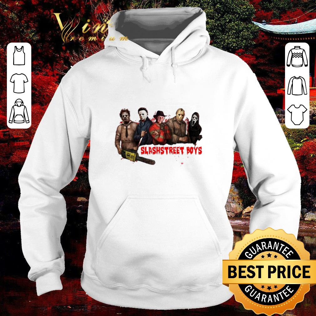 Official Slashstreet Boys horror movie characters shirt