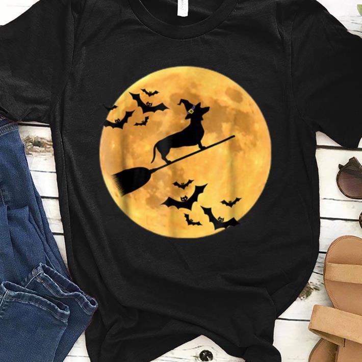 Original Dachshund Witch Dog Halloween Moon Broomstick Broom shirt