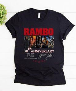 Original Rambo 38 Years 1982 2020 5 Films Signatures shirt 1 1 247x296 - Original Rambo 38 Years 1982-2020 5 Films Signatures shirt
