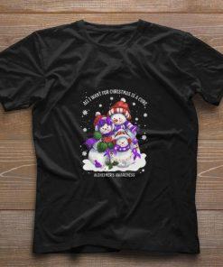 Original Snowman all I want for Christmas is a cure Alzheimer s Awareness shirt 1 1 247x296 - Original Snowman all I want for Christmas is a cure Alzheimer's Awareness shirt