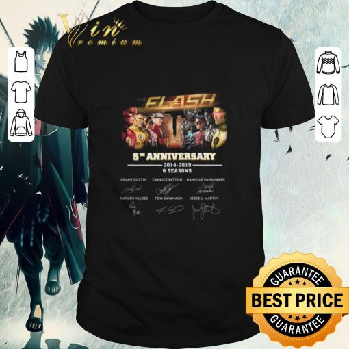Original The Flash 5th anniversary 2014 2019 6 seasons signatures shirt 1 1 510x510 - Original The Flash 5th anniversary 2014-2019 6 seasons signatures shirt
