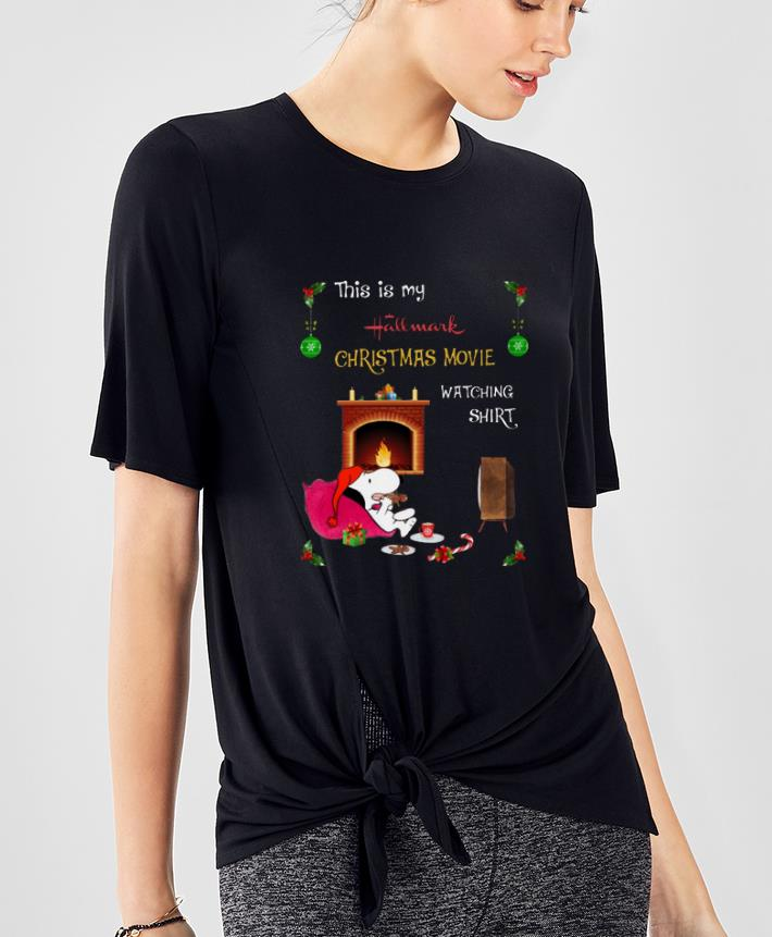 Original This Is My Hallmark Christmas Movie Watching Snoopy shirt