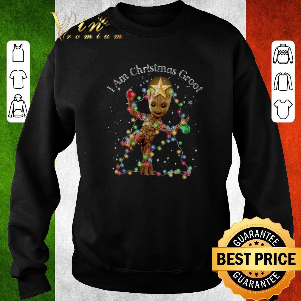 Premium I Am Christmas Groot Christmas Lights shirt