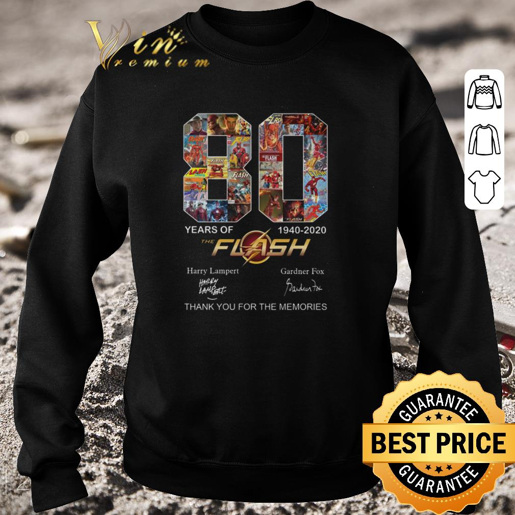 Pretty 80 years of The Flash 1940-2020 thank you for the memories shirt
