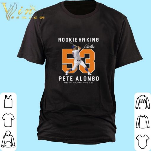 Pretty Rookie HR King 53 Pete Alonso New York Mets Signature shirt 1 1 510x510 - Pretty Rookie HR King 53 Pete Alonso New York Mets Signature shirt