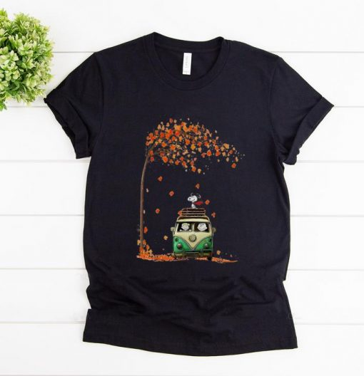 Pretty Snoopy With Friends Hippie Car Autumn Leaf shirt 1 1 510x528 - Pretty Snoopy With Friends Hippie Car Autumn Leaf shirt