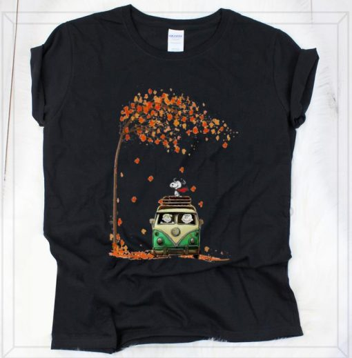 Pretty Snoopy With Friends Hippie Car Autumn Leaf shirt 2 1 510x519 - Pretty Snoopy With Friends Hippie Car Autumn Leaf shirt