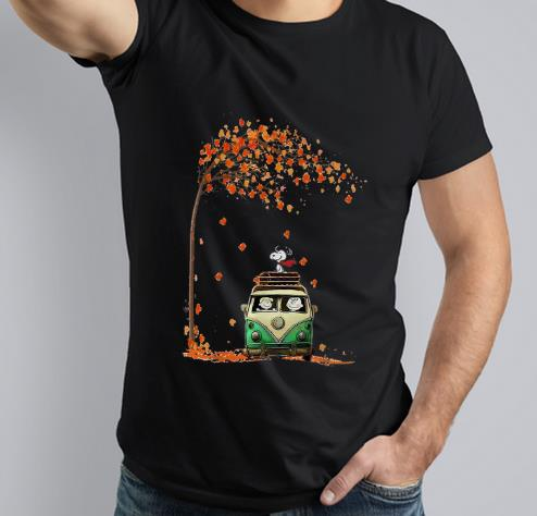 Pretty Snoopy With Friends Hippie Car Autumn Leaf shirt 3 1 - Pretty Snoopy With Friends Hippie Car Autumn Leaf shirt