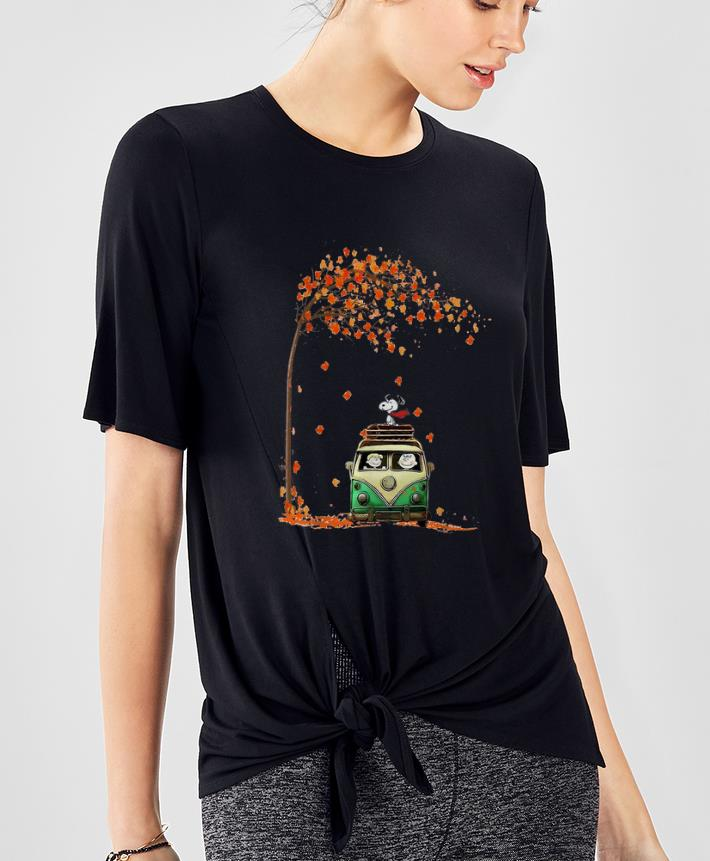 Pretty Snoopy With Friends Hippie Car Autumn Leaf shirt