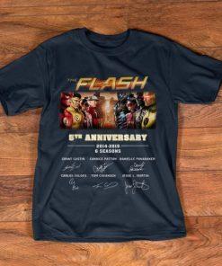 Pretty The Flash 5th Anniversary 2014 2019 6 Seasons Signatures shirt 1 1 247x296 - Pretty The Flash 5th Anniversary 2014-2019 6 Seasons Signatures shirt