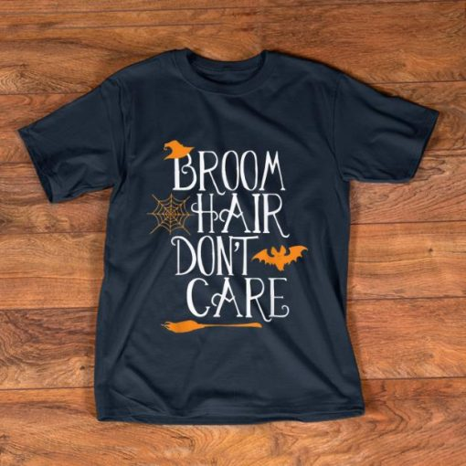 Pretty Witch Halloween Gift Funny Broom Hair Don t Care Girls Kids shirt 1 1 510x510 - Pretty Witch Halloween Gift Funny Broom Hair Don't Care Girls Kids shirt