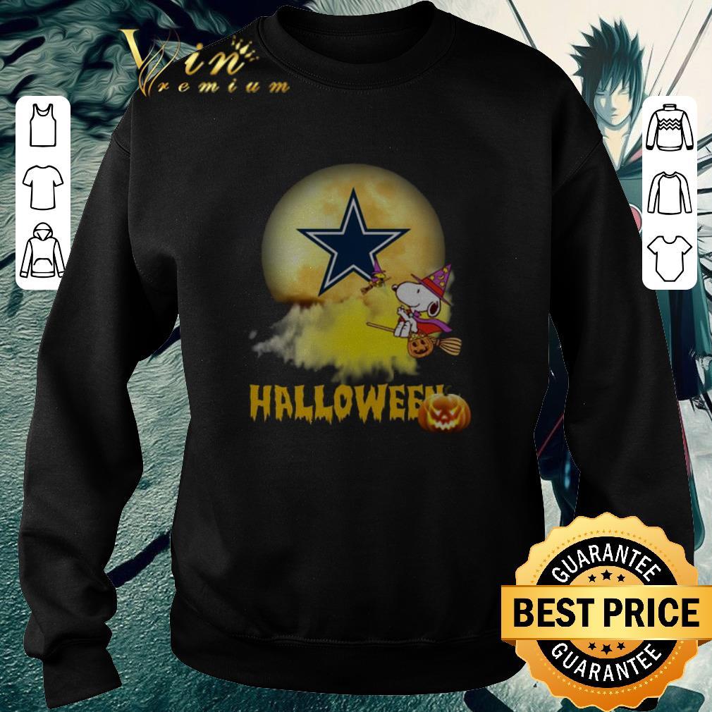 Top Snoopy flying on the broom Dallas Cowboys Halloween shirt