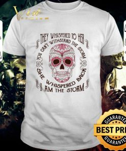 Top Sugar skull they whispered to her i am the storm Breast cancer shirt 1 1 247x296 - Top Sugar skull they whispered to her i am the storm Breast cancer shirt