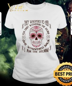 Top Sugar skull they whispered to her i am the storm Breast cancer shirt 2 1 247x296 - Top Sugar skull they whispered to her i am the storm Breast cancer shirt