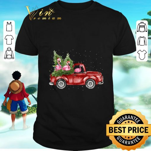 Awesome Flamingos ride red truck Christmas shirt 1 1 510x510 - Awesome Flamingos ride red truck Christmas shirt