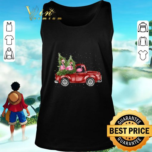 Awesome Flamingos ride red truck Christmas shirt 2 1 510x510 - Awesome Flamingos ride red truck Christmas shirt