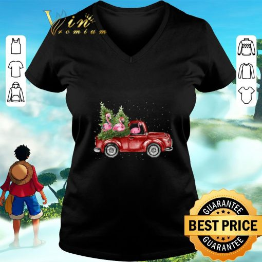 Awesome Flamingos ride red truck Christmas shirt 3 1 510x510 - Awesome Flamingos ride red truck Christmas shirt