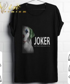 Funny Golden Retriever Joker put on a golden face shirt 1 1 247x296 - Funny Golden Retriever Joker put on a golden face shirt