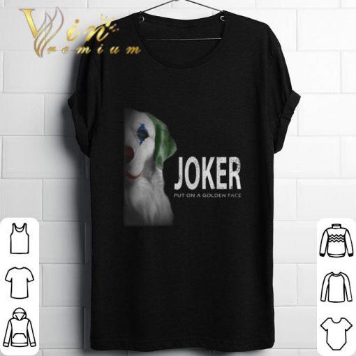 Funny Golden Retriever Joker put on a golden face shirt 1 1 510x510 - Funny Golden Retriever Joker put on a golden face shirt