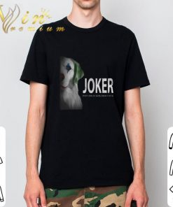 Funny Golden Retriever Joker put on a golden face shirt 2 1 247x296 - Funny Golden Retriever Joker put on a golden face shirt