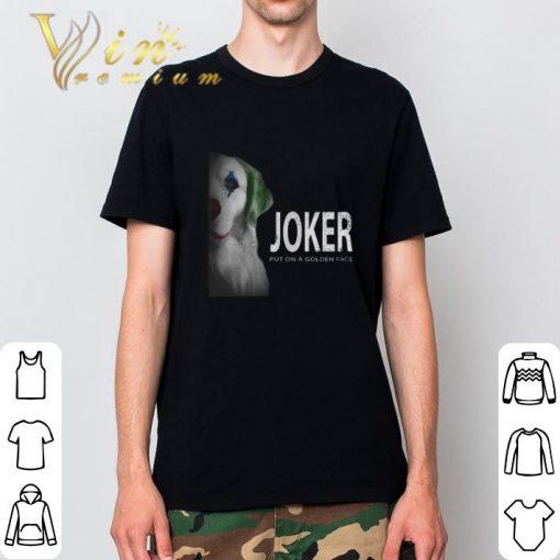 Funny Golden Retriever Joker put on a golden face shirt 2 1 510x510 - Funny Golden Retriever Joker put on a golden face shirt
