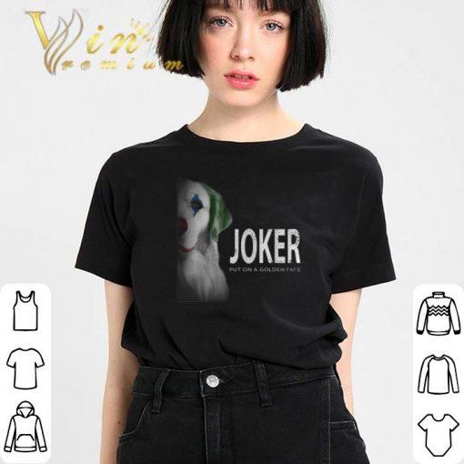 Funny Golden Retriever Joker put on a golden face shirt 3 1 510x510 - Funny Golden Retriever Joker put on a golden face shirt