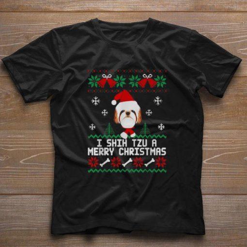 Funny I Shih Tzu A Merry Christmas ugly sweater 1 1 510x510 - Funny I Shih Tzu A Merry Christmas ugly sweater