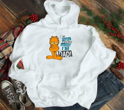 Funny I m Right You re Wrong I m Dad Garfield shirt 1 1 510x454 - Funny I'm Right You're Wrong I'm Dad Garfield shirt