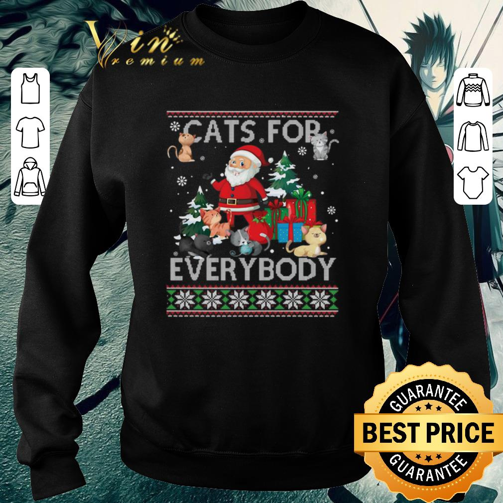 Hot Santa Cats For Everybody ugly Christmas shirt