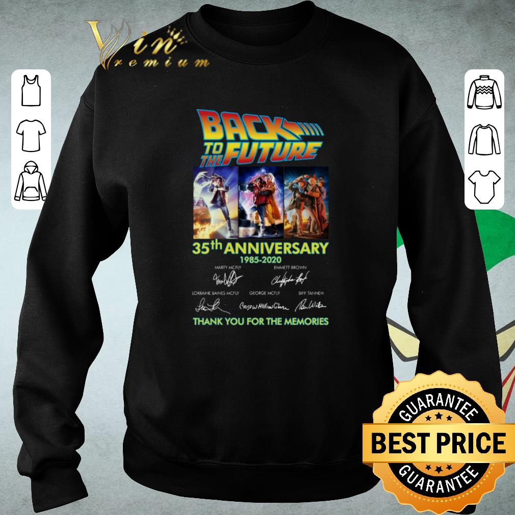 Nice Back to the future 35th anniversary 1985-2020 signatures shirt