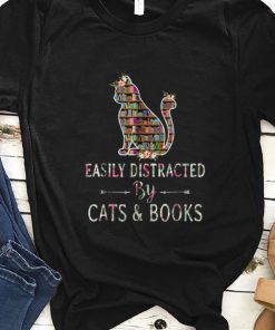Nice Easily Distracted By Cats And Books shirt 1 1 247x296 - Nice Easily Distracted By Cats And Books shirt