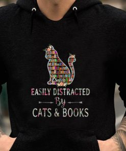 Nice Easily Distracted By Cats And Books shirt 2 1 247x296 - Nice Easily Distracted By Cats And Books shirt