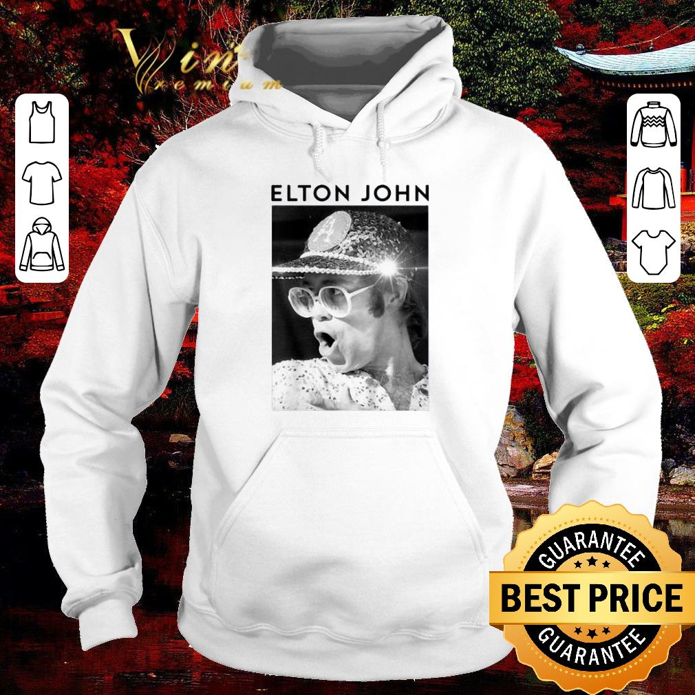 Nice Elton John Black & White Photo shirt