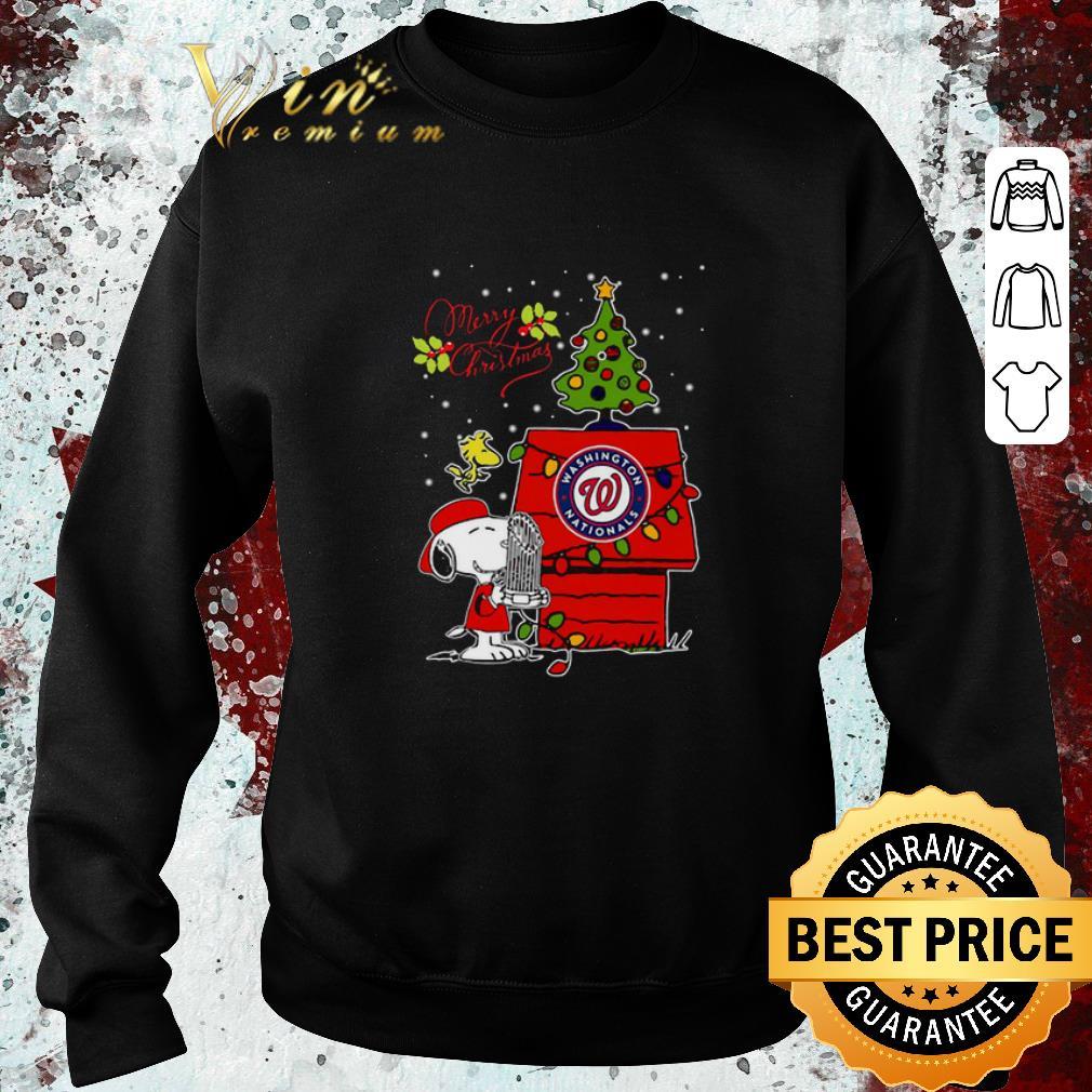 Nice Washington Nationals Snoopy Woodstock Merry Christmas shirt