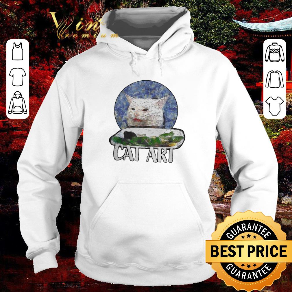 Official Angry Yelling At Confused Cat At Dinner Table Meme 2020 shirt