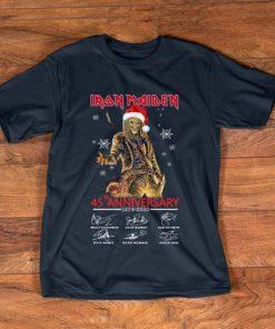 Official Iron Maiden Santa 45th Anniversary Signatures Christmas shirt 1 1 247x296 - Official Iron Maiden Santa 45th Anniversary Signatures Christmas shirt