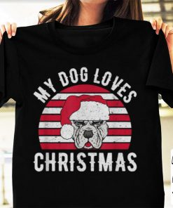 Official My Dog Loves Christmas Retro Gift Idea Vintage shirt 1 1 247x296 - Official My Dog Loves Christmas Retro Gift Idea Vintage shirt
