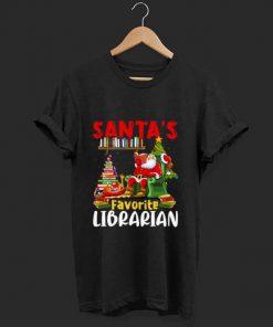 Official Santa s Favorite Librarian Christmas Book Lovers shirt 1 1 247x296 - Official Santa's Favorite Librarian Christmas Book Lovers shirt