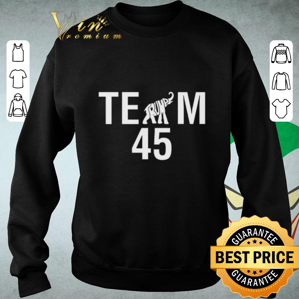Official Team Trump elephant 45 shirt
