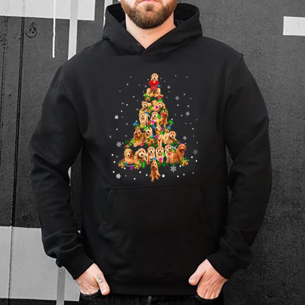 Original Cute Goldendoodle dog Christmas Tree gift decor Xmas tree shirt