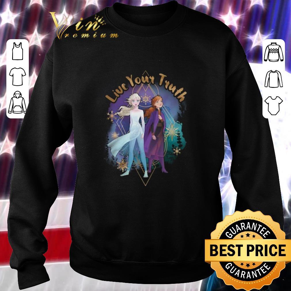 Original Disney Frozen 2 Elsa Anna Live Your Truth Geometric shirt
