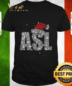 Original Glitter ASL Santa hat Christmas shirt 1 1 247x296 - Original Glitter ASL Santa hat Christmas shirt